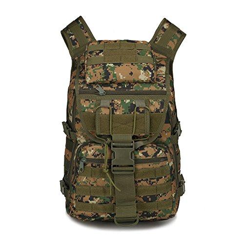 Nykkola militaire Sac à dos tactique Molle Sac à dos Gear Assault Pack Camping Randonnée Voyage Sac de sport