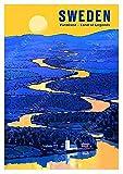 shuimanjinshan Schweden Stockholm Varmland Karte Leinwand