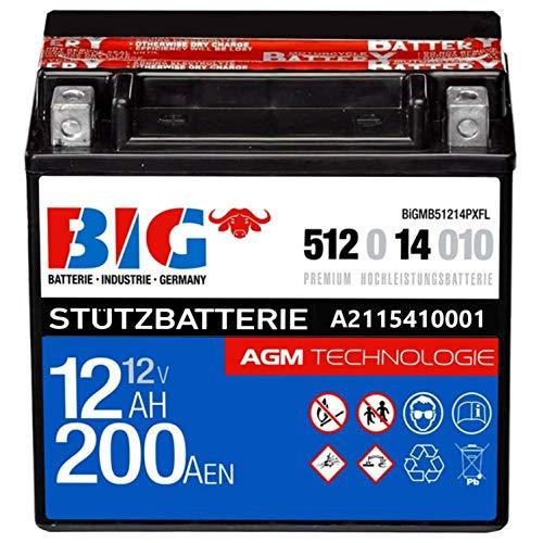 Stützbatterie 12V 12Ah BIG Premium AGM A2115410001 für PKW