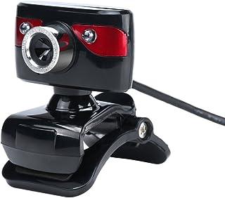 HD Webcam 12 Megapixel USB Webcam HD 480P Web Cam 360 Degree with Microphone Clip-on for Desktop Skype Computer PC Laptop ...