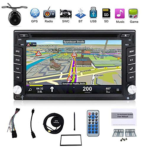 BOSION Navigation Win CE product 6.2-inch Double DIN in Dash Car Dvd Player Car Stereo Touch Screen Support SWC USB Sd Mp3 FM AM Radio for Universal Car With Backup Camera