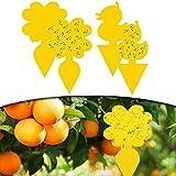 EasyULT 50 Piezas Trampa de Moscas Enchufables, Jardin Planta Trampas, Atrapa Moscas Trampa Mosquitos Amarillo de Doble Cara, Ideal para Plantas en el Balcón o en el Jardí
