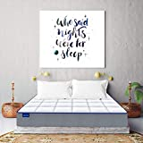 SleepSpa by Coir fit MEMO-X 5' Inch Single Size Memory Foam Mattress(75x30x5, White)