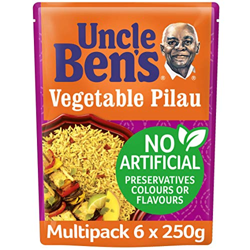 Uncle Ben Special Vegetable Pilau Reis (250g) - Packung mit 6