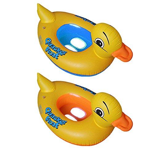 PVC Flotador Anillo de natación del Niños de dibujos animados del Pato,GZQES,Infant Natación Flotador de piscinas para bebés niños 2-6 años edad,Color Azal