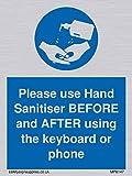 Si prega di utilizzare il disinfettante per le mani prima e dopo di utilizzare la tastiera o il telefono.