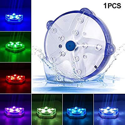 "Blufree 3.3"" LED Floating Pool Lights, IP68 Waterproof Color Changing Pond Light."