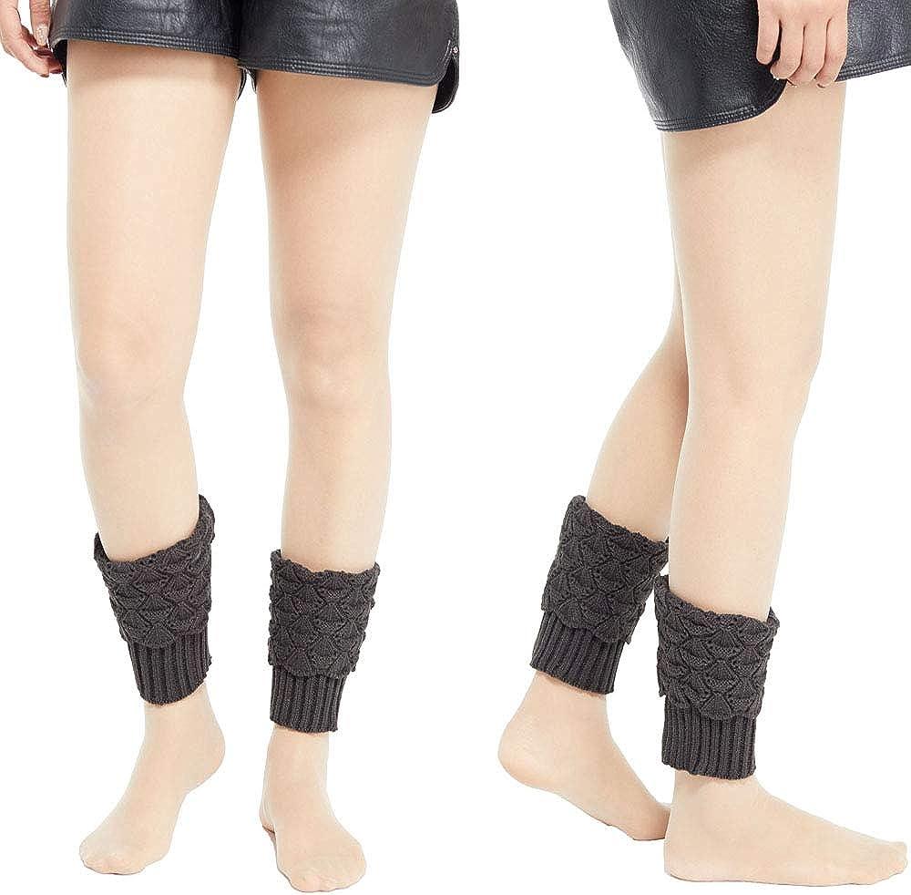 Women Fall and Winter Boot Cuffs Toppers Knit Leg Warmers Short Yoga Socks