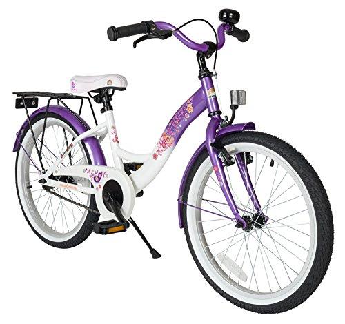 BIKESTAR Vélo Enfant pour Garcons et Filles de 6 Ans | Bicyclette Enfant 20 Pouces Classique avec Freins | Lilas & Blanc