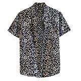 Overdose Camisas Hombre Manga Corta Tallas Grandes Originales Italianas Vintage Camisetas Hombres de Verano Hawaiana Ibicenca Fiesta Estampados