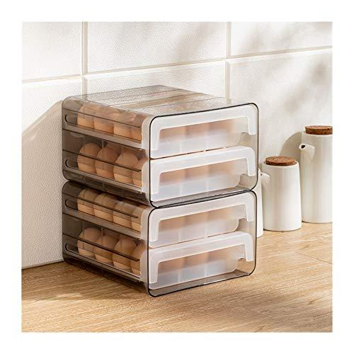 Hueveras Para Frigorifico Caja de almacenamiento de huevos, refrigerador de tipo cajón, caja de mantenimiento fresco, Caja de huevos de cocina, Compartimiento de huevos anti-gotas Huevera