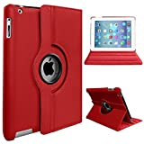 Rotate 360° Stand Case For Apple iPad Mini 1/2/3 (Red)