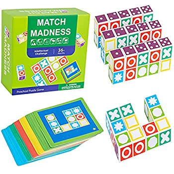 Matching Game Puzzle Board Game Wooden Toys for 3 4 5 6 7 Kids  Desktop Family Game Toy Intelligence Development Toy Kit Educational Logical Thinking Memory Game Best Party Christmas Birthday Gifts