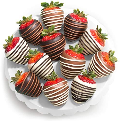 Golden State Fruit Chocolate Covered Strawberries, 12 Dark/Milk/White Delight