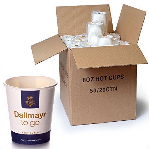 Dallmayr Coffee to go Becher 1000 x 0,2 l Pappbecher Kaffeebecher