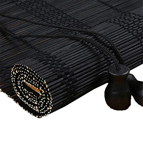 Hs&sure Black Bamboo Rullo Blinds Blackout Bamboo Roman Tende Blinds 70% Blackout Patio Outdoor Patio Sfumature per la Decorazione della casa Decorazione della casa Roll Up Shades Roman