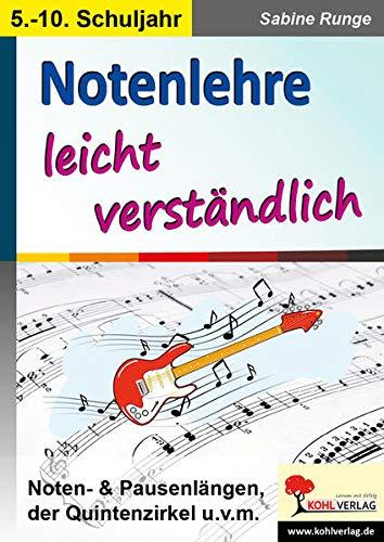 Notenlehre leicht verständlich: Noten- & Pausenlängen, der Quintenzirkel u.v.m.