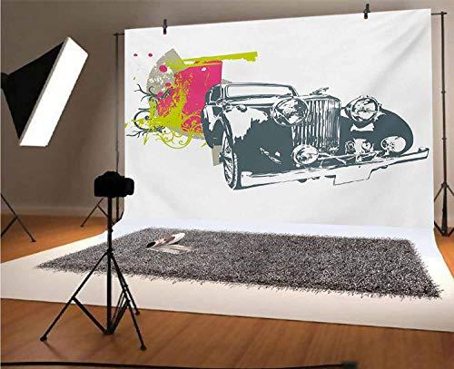 Telón de fondo de vinilo vintage de 10 x 8 pies, arte...