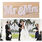 knowing Mr & Mrs Holz Buchstaben Holz Wörter Hochzeit Dekoration fur Hochzeitsfeier vorbereitungsklasse Dekoration 1Set weiß - 2