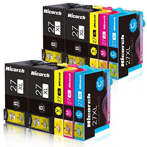Hicorch 27XL Cartuchos de Tinta para Epson 27 XL Multipack Compatible con Epson Workforce WF-3620 WF-3640 WF-7110 WF-7210 WF-7610 WF-7620 WF-7710 WF-7715 WF-7720 (4 Negro,2 Cian,2 Magenta,2 Amarillo)