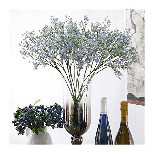 JINGGEGE Künstliche Blumen-Fälschungs-Silikon-Anlage for Hochzeit Home Hotel-Partei-Dekoration 5 Farben DIY Möbel-Dekoration (Color : Purple)
