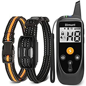 Dimunt Dog Training Collar – Rechargeable Shock Collars for Dogs with Remote IP67 Waterproof Shock Collar w/3 Training Modes, Beep, Vibration and Shock, 3350ft Remote Range Dog Collar