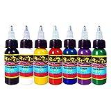Solong Tattoo Tinte-Set 7 Flaschen 30ML 1oz Gute Qualität Pigment Tattoo Ink Vegan Kit TI301-30-7