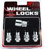 Wheel Accessories Parts 4 PC 12x1.25 Chrome Wheel Locking Lug Nuts Acorn Cone Seat Closed End 1.38' Long M12x1.25 Thread Size Premium Wheel Lock Set with Key (Set of 4)