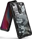 Ringke Cover Fusion-X Compatibile con Xiaomi Redmi Note 8 PRO, Custodia Paraurti Antiurto - Camo Black