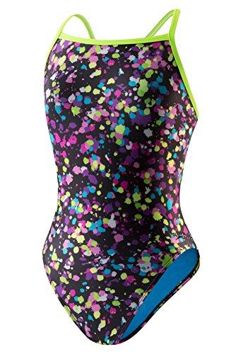 Speedo Women's Flipturns Spectacular Splatter Propel Back Swimsuit (32)