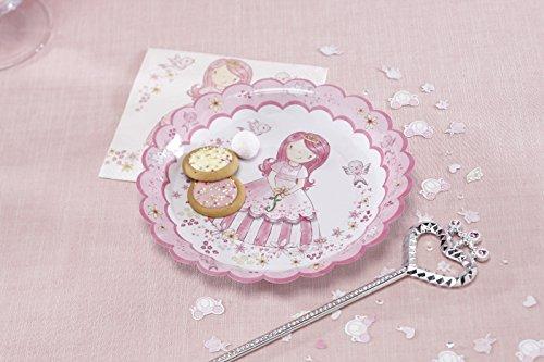 Ginger Ray Princesse Plaques Rose de Fête de Papier - Partie de Princesse