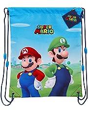 Super Mario Trekkoord tassen, jongens String Bag voor school, gym, zwemmen, geschenken voor kinderen