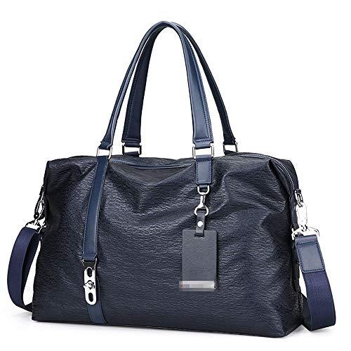 ZzheHou - Borsa da palestra, a mano, portadocumenti, casual, per uomo, grande capacità di rimessa in forma, bagagli da viaggio, messenger, borsa a tracolla, blu, taglia unica