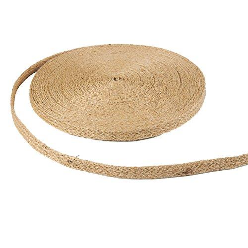 Cuerda de yute natural, rollo de 25 yardas (0.78 pulgadas)