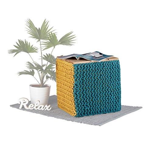 Native Home Puff Taburete Trenzado 2 1 Forma Cubo