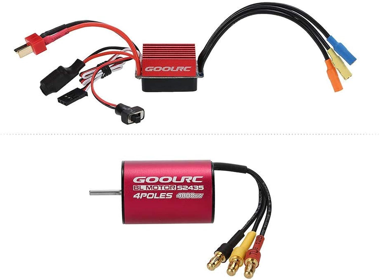 GoolRC S2435 4800KV Brushless Motor and 35A Brushless ESC Combo Set for 1 16 1 18 RC Car Truck
