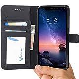 Redmi Note 6 Pro Etui à Rabat en Cuir Housse de Protection [Abacus24-7] Format Portefeuille avec...