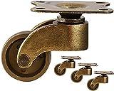 4 STÜCKE Retro Möbelrollen Universal Universal DIY Rollen/Nylon + Legierung/Raddurchmesser 28 MM Gold