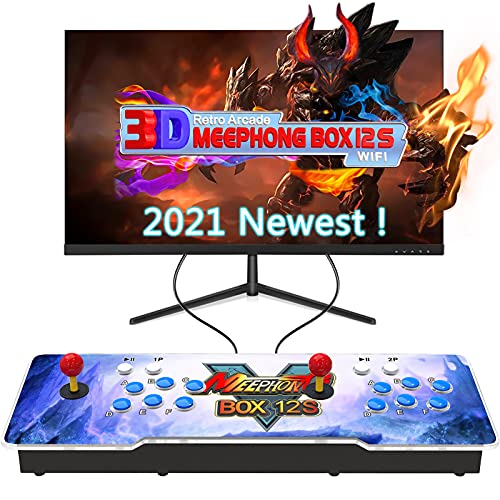 MEEPHONG Pandora Box 12s 3D WiFi Consola de Multijugador Arcade DoméStica 3300 Juegos Todo en Uno (70 Juegos 3D),Maquina Arcade Console Equipped with Dual Joysticks and 6 Buttons