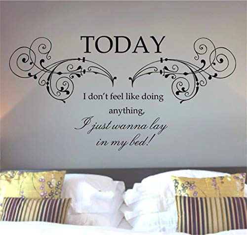 Wandaufkleber Schmetterlinge 3D Bruno Mars Lazy Today Lyrics Song Quote Words Wall Art Sticker Mural Decal for living room bedroom