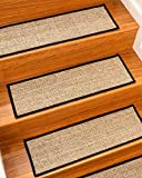 Natural Area Rugs Beige Zion DIY Pet Friendly Handmade Sisal Carpet Stair Treads/Rugs Safety Slip Resistant for Kids, Elders, and Dogs. 9' x 29' (13), Serged Border, Double Sided Tape Included