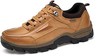 XLYAN 50 Outdoor Climbing Men's Shoes Oversized Leather Shoes Plus Fat Widening