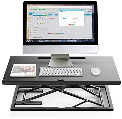 LY88 Höhenverstellbarer Stehpult, Riser-Konverter mit breiter Plattform Stehpult, Höhenverstellbarer ergonomischer Design-Bürocomputer-Arbeitsplatz für Laptops