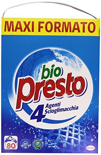 Bio Presto Classico Detersivo Lavatrice in Polvere Sciogli Macchia, 80 Misurini