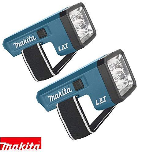 Makita DML186 LED-Taschenlampe, 18 V, wiederaufladbar, nur Körper (2 Stück)