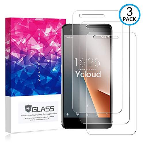 Ycloud [3 Pack] Protector de Pantalla para Vodafone Smart V8,[9H Dureza/0.3mm],[Alta Definicion] Cristal Vidrio Templado Protector para Vodafone Smart V8