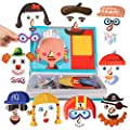 Magnetic Puzzle Book for Kids Imagination Play | Mix and Match Game with Travel Storage Case (Silly Faces) from Liberty Imports