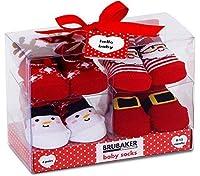 Una delle idee regalo più belle ed utili per il bebè: perfetti per la nascita, per il battesimo, il suo primo compleanno o per Natale! Le calze da neonato vengono presentate in una scatola regalo trasparente, in cui tutte le 4 paia di calzinis sono i...