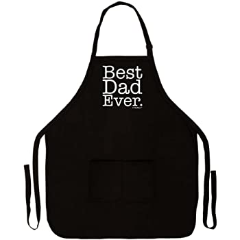 Best Dad Ever Apron for Kitchen BBQ Barbecue Cooking Baking Two Pocket Apron