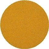 myfelt Klara Filzkugelteppich — 200cm, rund — Gelb